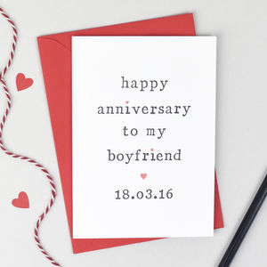 Personalised 'Happy Anniversary To My' Anniversary Card