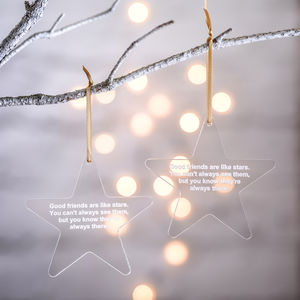 Personalised Friend Star Decoration - decorative accessories
