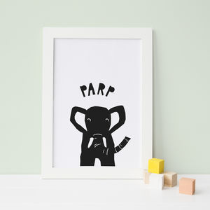 Peekaboo Elephant, Kids Wall Art - children's room