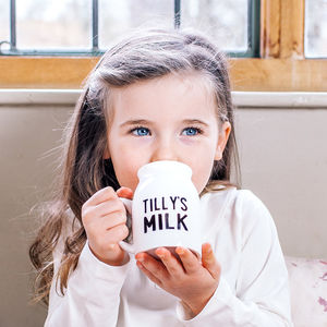 Personalised Children's Milk Bottle Cup - mugs