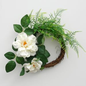 Rose And Fern Wedding Wreath - room decorations