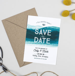 Adventure Wedding Save The Date Card - save the date cards