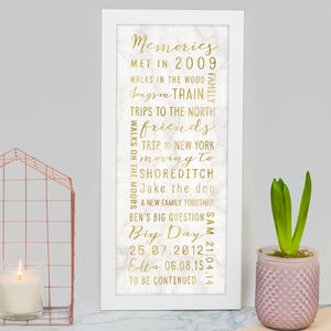 Personalised Best Memories Print - for him