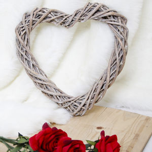 Wicker Heart Hanging Decoration - home accessories