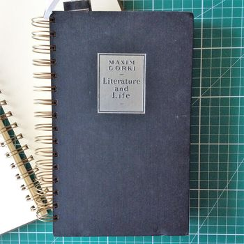 'Literature And Life' Upcycled Notebook