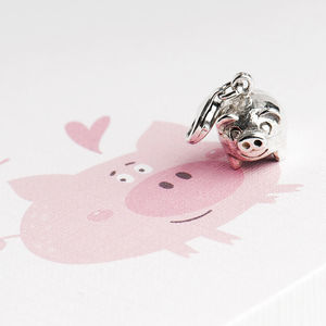 Little Piggy Charm In Sterling Silver - charm jewellery