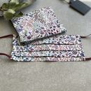 Liberty Print Face Covering With A Zipped Mask Pouch