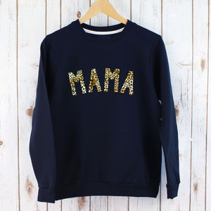 Leopard Print Ladies Mama Jumper