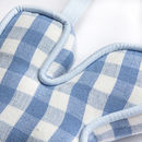 Blue Gingham Close Up