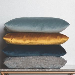 Luxurious Velvet Cushions - bedroom