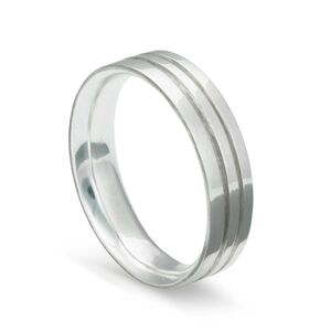 Double Channel Silver Ring