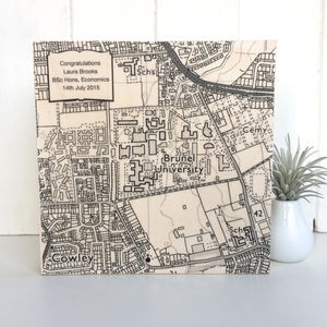 Personalised University Map Graduation Print