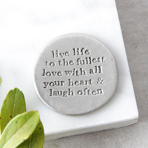 'Live Love Laugh' Pocket Coin - home accessories