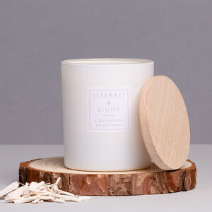 'Lighthouse' Sea Salt And Hyacinth Luxury Soy Candle