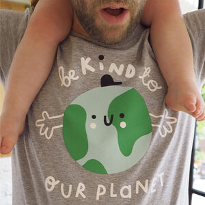 'Be Kind To Our Planet' Earth Adults Tshirt