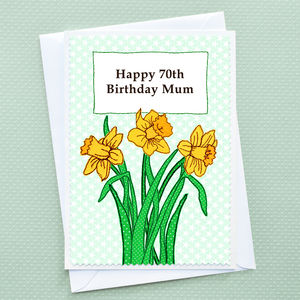 'Daffodils' Personalised Birthday Card