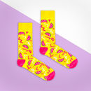 Yellow And Pink Watermelon Sock