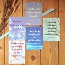 Motivational Postcard 'Little Box Of Calm' Gift Set