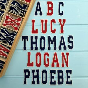 Alphabet Letters College Style To Iron On