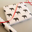 Tangled Bear, Christmas Lights Wrapping Paper