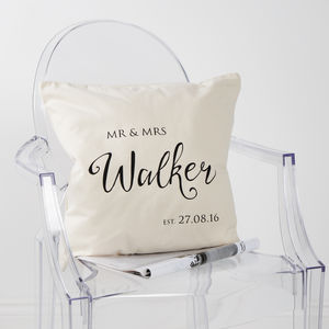 Personalised Mr And Mrs Established Cushion Cover - what's new