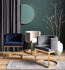 Gold, Brass Framed Velvet Chair - lust list for her