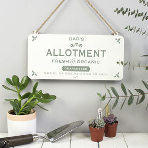 Dad's Allotment Metal Sign - art & decorations