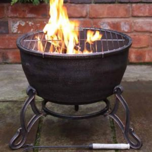 Cast Iron Garden Fire Bowl And Bbq Grill - fire pits & outdoor heating