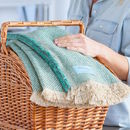 Sea Green Recycled British Wool Picnic Blanket