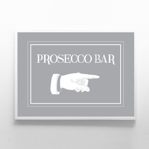 Prosecco Bar Sign - room decorations