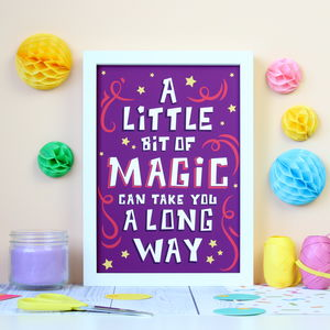 A Little Magic Quote Print - literature