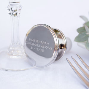 Personalised Silver Wine Stopper - drink & barware