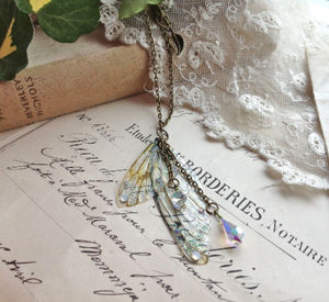 Large Faerie Wing Pendant