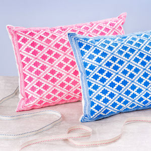 Bright Souk Embroidered Cushions - embroidered cushions