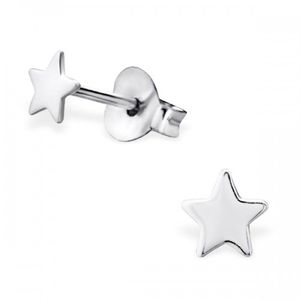 Star Earrings In Sterling Silver