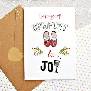 Comfort And Joy Christmas Card - cards