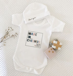 Personalise Made In… Baby Grow