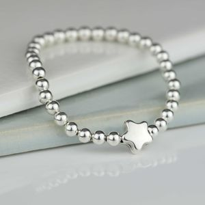 Tess Children's Silver Star Bracelet - christening jewellery