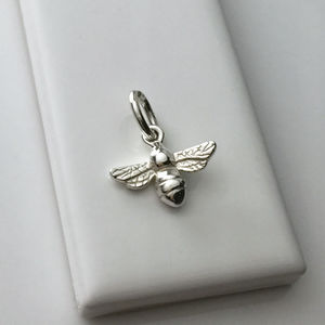 Bee Charm In Sterling Silver - charm jewellery