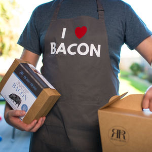 I Heart Bacon Apron And Make Your Own Bacon Gift Set - cooking kits
