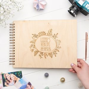 Personalised Hen Do Wooden Memory Book