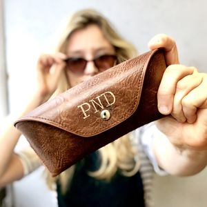 0ab235aa76 Personalised Brown Glasses Case - glasses cases