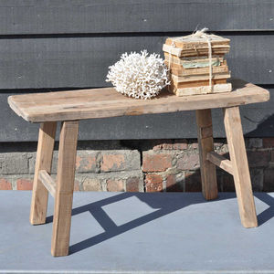 Reclaimed Timber Two Person Bench