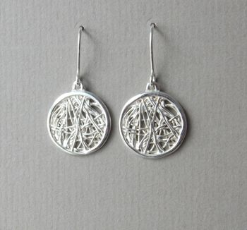 Silver Spaghetti Drop Earrings