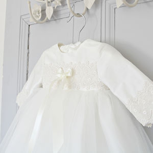 Lisa Long Sleeved Christening Gown - clothing
