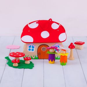 Personalised Wooden Flower Fairy Playset