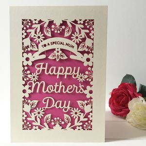 Personalised Laser Cut Mother's Day Card