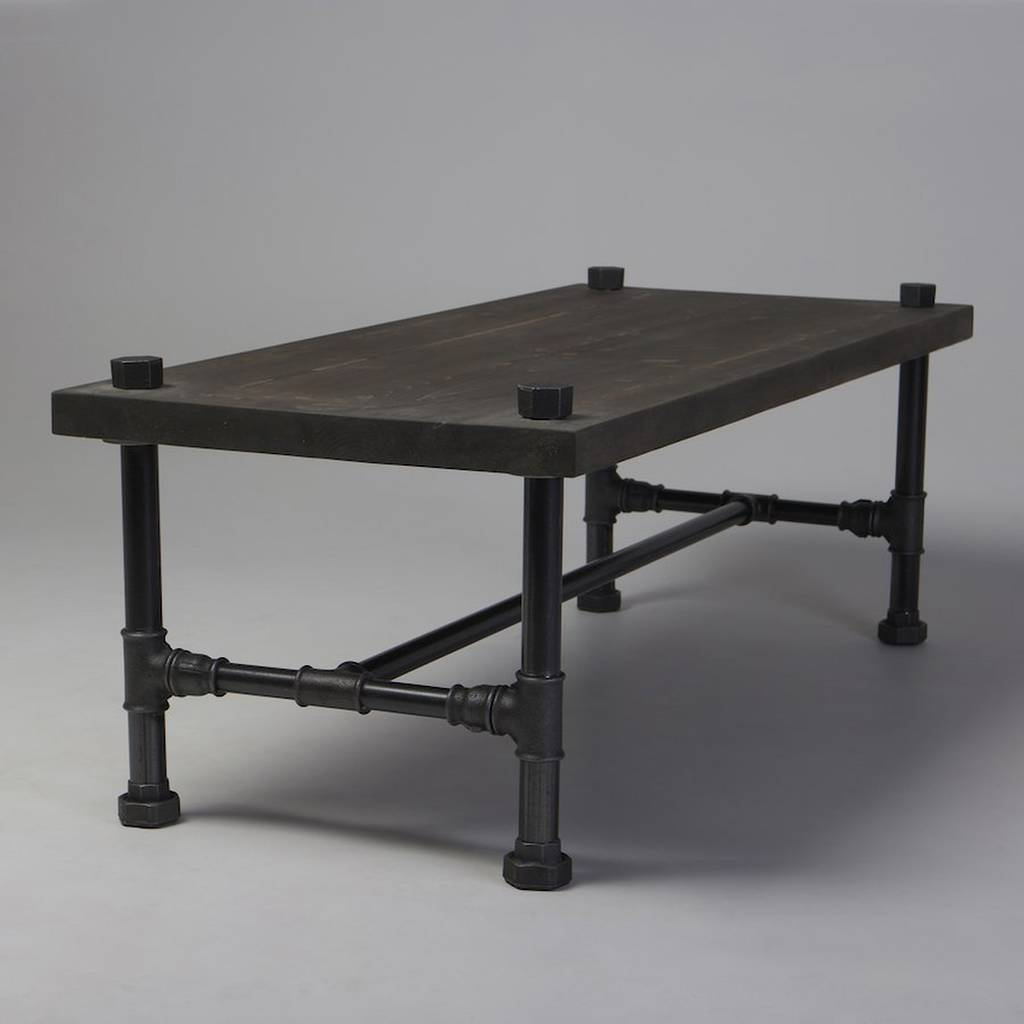 Young Industrial Coffee Table: Classic Industrial Style Coffee Table By Cosywood
