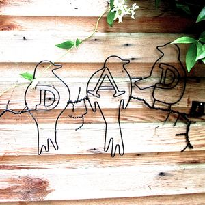 Dad Wire Wall Art Sign - new in home