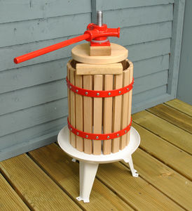 Traditional Six Litre Fruit And Apple Press